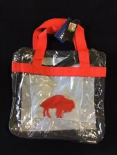 Buffalo Bills Retro Throwback CLEAR Messenger Tote Bag Purse Game Security Reqs