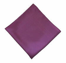 "Vintage Lavender Pocket Square - 100% Silk - 15"" Square - Machine Sewn Edges"