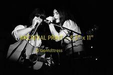 Unseen GRAM PARSONS & EMMYLOU HARRIS Archival 8.5x11 Print
