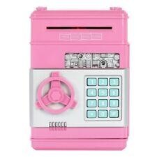 Kids Coin Cash Money Saving Box Electronic Password Lovely Bank Safe Boxes