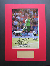 MANCHESTER UNITED RAIMOND VAN DER GOUW HAND SIGNED A3 MOUNTED PHOTO DISPLAY- COA