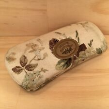 """LAURA ASHLEY """"White"""" Gorgeous Floral Reading Glasses Case Quality Protective Box"""