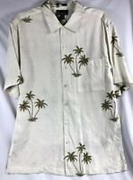 LUAU Brand Mens Hawaiian Button Down Shirt Limited Edition Finest Silk Size M