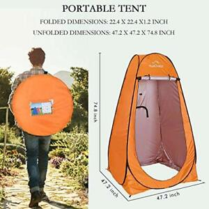Best Privacy Tent - Pop Up Shower Changing Toilet Tent Portable Camping Orange
