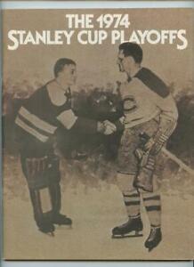 1974 Stanley Cup NHL Hockey Program Philadelphia Flyers New York Rangers GOAL #4