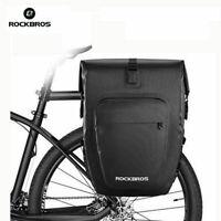 ROCKBROS Cycling Rear Seat Bags Waterproof Pannier Cycle Bike Rack Pack Travel