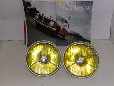 ALFA ROMEO GTA 1300 JUNIOR DEL 68 -FARI COMPLETI DI LAMPADE GIALLE Mm 170