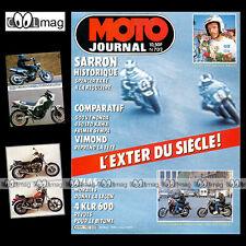 MOTO JOURNAL N°702 HONDA VT 500 C, KAWASAKI EN 450 LTD, SCOTTISH SIX DAYS 1985