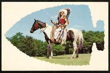 1962 Feather Bonnet Chief Native American Indian Arrowhead A Ho Kola Wisconsin