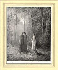 PURGATORIO:DANTE E VIRGILIO CON PIA DEI TOLOMEI.Gustave Doré.Divina Commedia.189
