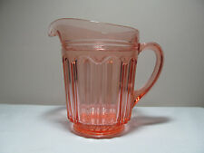 *Pink Depression Glass Colonial Knife and Fork 68 oz Pitcher