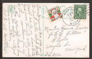 US Sc WX15, 405 on 1914 Homeward Bound color PPC