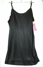 BLACK INTIMATE ESSENTIALS LADIES MICROFIBRE BLACK UNDER FULL SLIP SIZE 22 Chemis