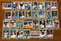 1981 MONTREAL EXPOS Topps COMPLETE MLB Team Set 31 Cards RAINES RC CARTER DAWSON