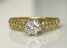 18K solid gold & 0.50CT Diamond solitaire ring 3.25g size K -  5 1/8