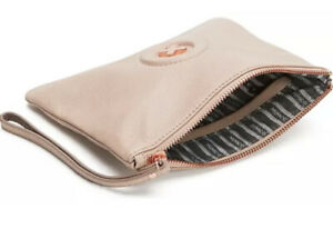 MIMCO Medium Pouch Pancake Leather ROSE GOLD Wallet Clutch Bag BNWT RRP$99.95
