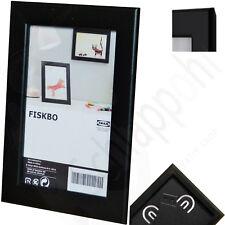 IKEA FISKBO Bilderrahmen/ Fotorahmen/Einrahmung/ Schwarz/ 21x30 cm. (DIN A4) NEU