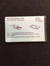 "(25) tweny five SELF LAMINATING CARDS 1 3/4"" X 3""   44 x 76 mm ID's"