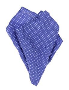 Tommy Hilfiger Mens Blue 'Small Polka Dot' 100% Silk Pocket Square 140104