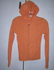 VINCE Light Orange Peach Thermal Cotton Knit Hoodie Zip Jacket Sz Small EUC