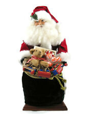 Classic Santa Doll With Huge Bag of Toys