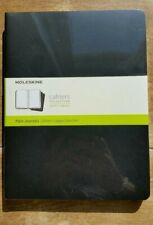 Moleskine Cahiers Set of 3 Plain Journals Black Ex Large 19 x 25cm New & Sealed