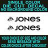 2x-Jones Snowboard logo vinyl decal car,truck,window, toolbox laptop sticker