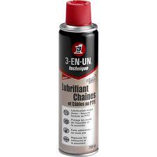 Lubrifiant Chaînes & Câbles aérosol 250ml 3-EN-1 - longue durée - 3-in-one