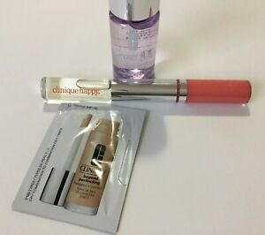 Clinique Happy Perfume Roll-on& Long Last Glosswear#27 Happy,Take The Day Off +