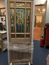 ( Brand New ) DOWNHAM Stained Glass External Door (Hardwood)M&T