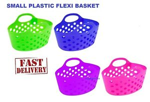 SMALL PLASTIC LAUNDRY STORAGE SOCKS BASKET BAG TUB FLEXIBLE FLEXI FRUIT GARDEN