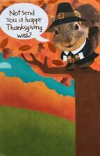 """""""Not Send a Happy Thanksgiving Wish? That Would Be Nuts!"""" FUNNY SQUIRREL CARD"""