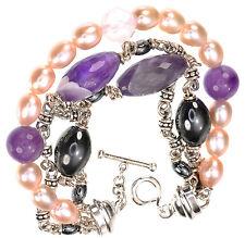 "Michael Dawkins Multi-Gemstone Bracelet size Large 8""L"
