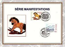 MONACO CEF PREMIER JOUR  2002 TIMBRE  N° 2320 CHEVAL A BASCULE COMPOSE DE FLEURS