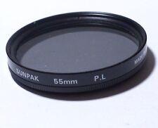 Lens Filter: POLAR Polarizing Sunpak 55mm PL JAPAN - free shipping