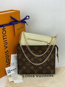 Louis Vuitton Toiletry Pouch 19 Monogram Canvas Crossbody Bag M47544 A585 New