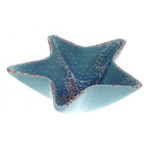 Starfish Bowl/Dish - Blue Ceramic Glazed - for Potpourri, Shells etc.