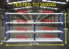 1600kgs Heavy Duty Garage Racking Warehouse Shelving 4m x 2m x 0.6m