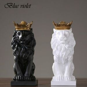 Lion Statue Nordic Style Resin Figurine Sculpture Home Office Decoration