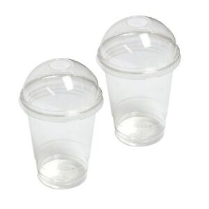 Disposable Smoothie Cups with Domed Lids perfect for slushies  8/10/12/16/20oz