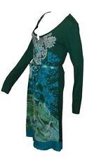 Desigual fantástico vestido GR-s = de-34/36 verde colorido modelo Vest maya Cirque du Soleil