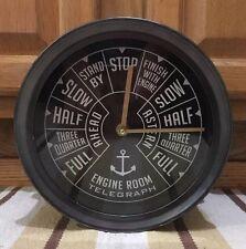 Engine Room Telegraph Wall Clock Decor Metal Boat Ship Vintage Style Beach Shore