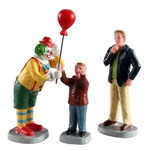 LEMAX 02953 - Friendly Clown, Set of 3 - Weihnachtsdorf-Winterdorf Neu