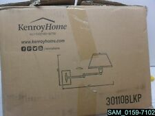 Kenroy Home 30110BLKP Simplicity Wall Swing Arm Lamp