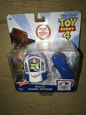 New ThinkWay Disney Toy Story 4 Electronic Music Light Spinning Buzz Space Ship