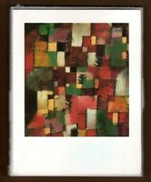 Red Green and Violet Yellow Rhythms Greeting Note Cards Paul Klee 1993 Vintage