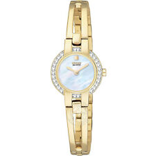 Unique Citizen Women's EW9992-59D Silhouette Bangle Eco Drive Watch BRAND NEW