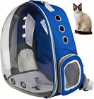 Pet Breathable Astronaut Space Capsule Backpack Puppy Cat Travel Bag Dog BLUE