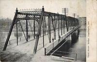 Logansport Indiana~Third Street Bridge~Wabash River~Folks Cross Foot Path~1908