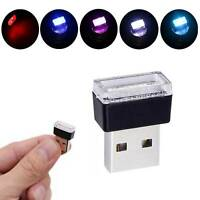 5 Colors Mini USB LED Car Auto Interior Decor Light Neon Atmosphere Ambient Lamp